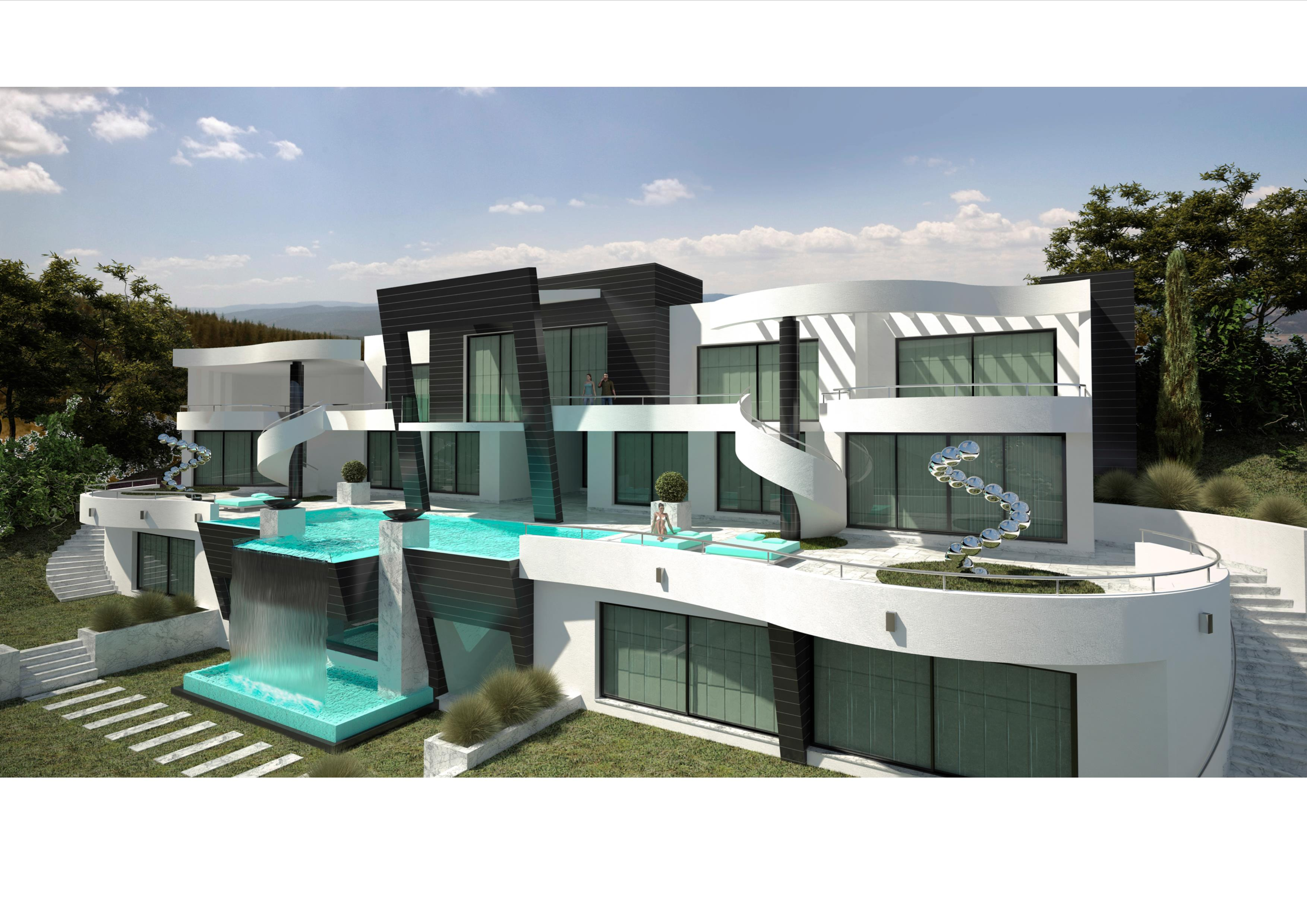 A super modern villa project in marbella south spain for Modern house villa